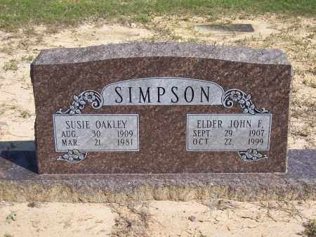 SIMPSON, SUSIE - Dallas County, Arkansas | SUSIE SIMPSON - Arkansas Gravestone Photos