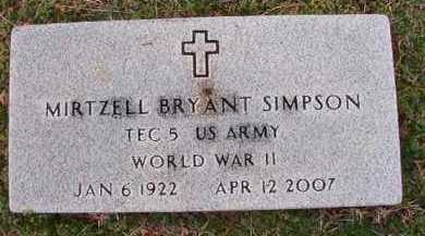 SIMPSON (VETERAN WWII), MIRTZELL BRYANT - Dallas County, Arkansas | MIRTZELL BRYANT SIMPSON (VETERAN WWII) - Arkansas Gravestone Photos
