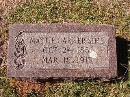 GARNER SIMS, MATTIE - Dallas County, Arkansas | MATTIE GARNER SIMS - Arkansas Gravestone Photos