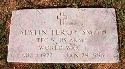 SMITH (VETERAN WWII), AUSTIN TEROY - Dallas County, Arkansas | AUSTIN TEROY SMITH (VETERAN WWII) - Arkansas Gravestone Photos