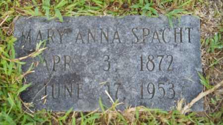 SPACHT, MARY ANNA - Dallas County, Arkansas | MARY ANNA SPACHT - Arkansas Gravestone Photos