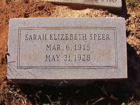 SPEER, SARAH ELIZABETH - Dallas County, Arkansas | SARAH ELIZABETH SPEER - Arkansas Gravestone Photos