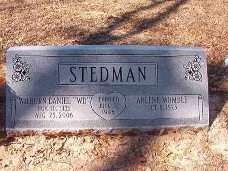 STEDMAN, WILBURN DANIEL - Dallas County, Arkansas | WILBURN DANIEL STEDMAN - Arkansas Gravestone Photos