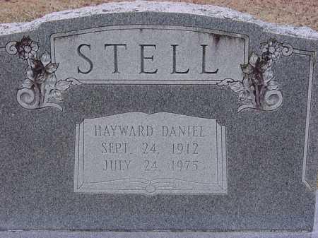 STELL, HAYWARD DANIEL - Dallas County, Arkansas | HAYWARD DANIEL STELL - Arkansas Gravestone Photos