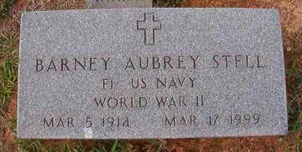 STELL (VETERAN WWII), BARNEY AUBREY - Dallas County, Arkansas | BARNEY AUBREY STELL (VETERAN WWII) - Arkansas Gravestone Photos
