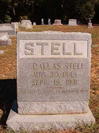 STELL, W. DALLAS - Dallas County, Arkansas | W. DALLAS STELL - Arkansas Gravestone Photos
