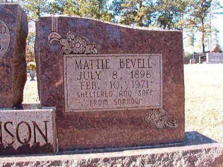BEVELL STEVENSON, MATTIE - Dallas County, Arkansas   MATTIE BEVELL STEVENSON - Arkansas Gravestone Photos