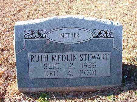 MEDLIN STEWART, RUTH - Dallas County, Arkansas | RUTH MEDLIN STEWART - Arkansas Gravestone Photos