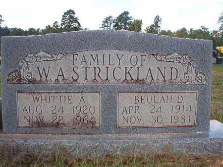 STRICKLAND, BEULAH D - Dallas County, Arkansas | BEULAH D STRICKLAND - Arkansas Gravestone Photos