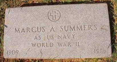 SUMMERS (VETERAN WWII), MARCUS ARLAND - Dallas County, Arkansas   MARCUS ARLAND SUMMERS (VETERAN WWII) - Arkansas Gravestone Photos
