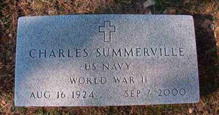 SUMMERVILLE (VETERAN WWII), CHARLES - Dallas County, Arkansas | CHARLES SUMMERVILLE (VETERAN WWII) - Arkansas Gravestone Photos