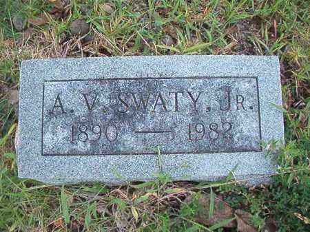 SWATY, JR, A V - Dallas County, Arkansas | A V SWATY, JR - Arkansas Gravestone Photos