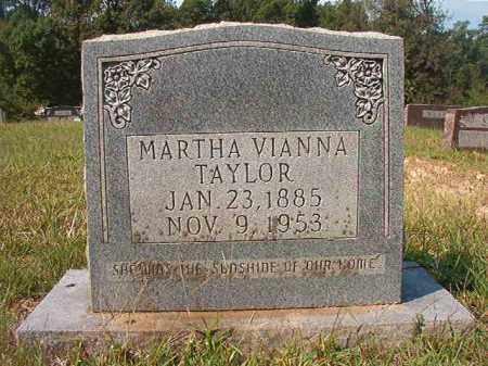 TAYLOR, MARTHA VIANNA - Dallas County, Arkansas   MARTHA VIANNA TAYLOR - Arkansas Gravestone Photos