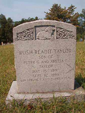 TAYLOR, RUSH READIT - Dallas County, Arkansas   RUSH READIT TAYLOR - Arkansas Gravestone Photos