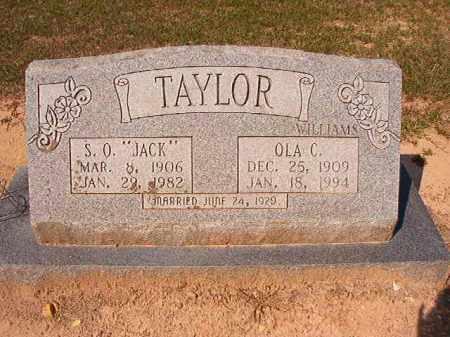 WILLIAMS TAYLOR, OLA C - Dallas County, Arkansas | OLA C WILLIAMS TAYLOR - Arkansas Gravestone Photos