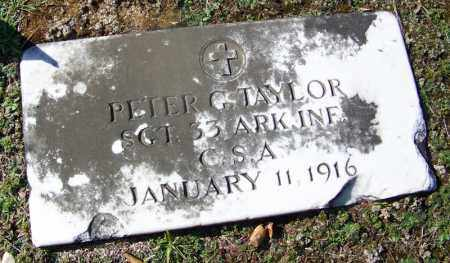 TAYLOR (VETERAN CSA), PETER G - Dallas County, Arkansas | PETER G TAYLOR (VETERAN CSA) - Arkansas Gravestone Photos