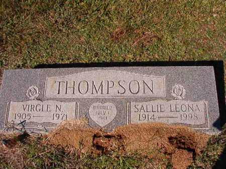 THOMPSON, VIRGLE N - Dallas County, Arkansas | VIRGLE N THOMPSON - Arkansas Gravestone Photos