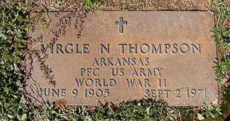 THOMPSON (VETERAN WWII), VIRGLE N - Dallas County, Arkansas | VIRGLE N THOMPSON (VETERAN WWII) - Arkansas Gravestone Photos