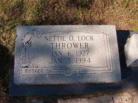 LOCK THROWER, NETTIE O - Dallas County, Arkansas | NETTIE O LOCK THROWER - Arkansas Gravestone Photos