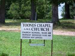 *TOONES CHAPEL CEMETERY SIGN,  - Dallas County, Arkansas |  *TOONES CHAPEL CEMETERY SIGN - Arkansas Gravestone Photos