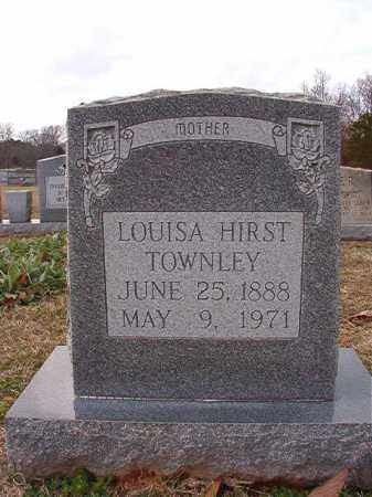 HIRST TOWNLEY, LOUISA - Dallas County, Arkansas | LOUISA HIRST TOWNLEY - Arkansas Gravestone Photos