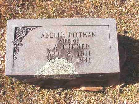 PITTMAN TURNER, ADELLE - Dallas County, Arkansas | ADELLE PITTMAN TURNER - Arkansas Gravestone Photos