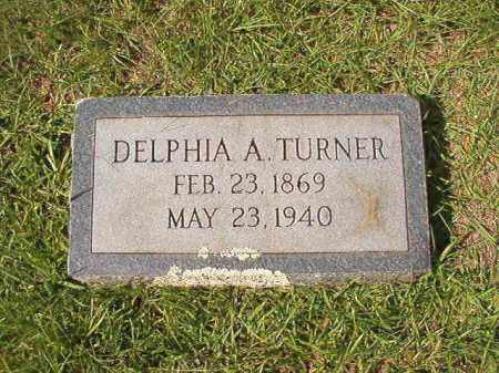 TURNER, DELPHIA A - Dallas County, Arkansas | DELPHIA A TURNER - Arkansas Gravestone Photos