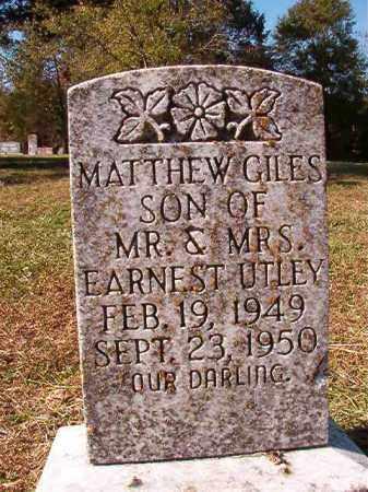 UTLEY, MATTHEW GILES - Dallas County, Arkansas | MATTHEW GILES UTLEY - Arkansas Gravestone Photos