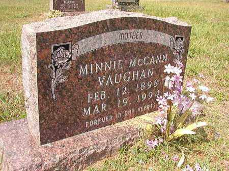 MCCANN VAUGHAN, MINNIE - Dallas County, Arkansas | MINNIE MCCANN VAUGHAN - Arkansas Gravestone Photos