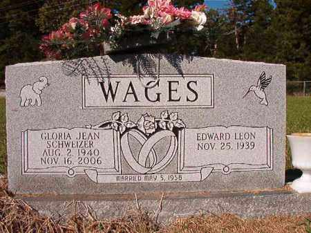 SCHWEIZER WAGES, GLORIA JEAN - Dallas County, Arkansas | GLORIA JEAN SCHWEIZER WAGES - Arkansas Gravestone Photos