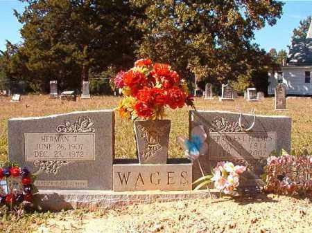 HOLMES WAGES, FRANCES L - Dallas County, Arkansas | FRANCES L HOLMES WAGES - Arkansas Gravestone Photos