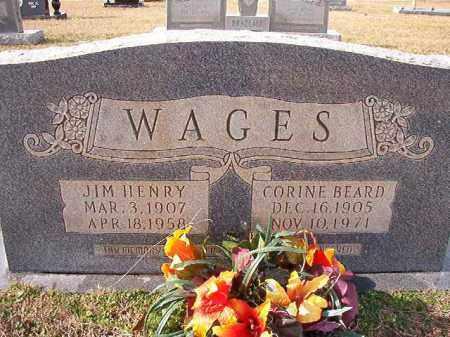 BEARD WAGES, CORINE - Dallas County, Arkansas | CORINE BEARD WAGES - Arkansas Gravestone Photos