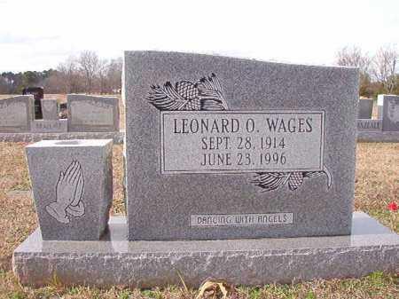 WAGES, LEONARD O - Dallas County, Arkansas | LEONARD O WAGES - Arkansas Gravestone Photos
