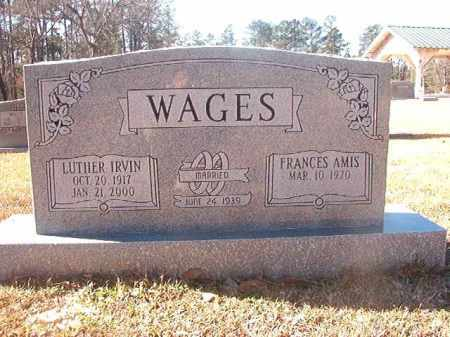 WAGES, LUTHER IRVIN - Dallas County, Arkansas | LUTHER IRVIN WAGES - Arkansas Gravestone Photos