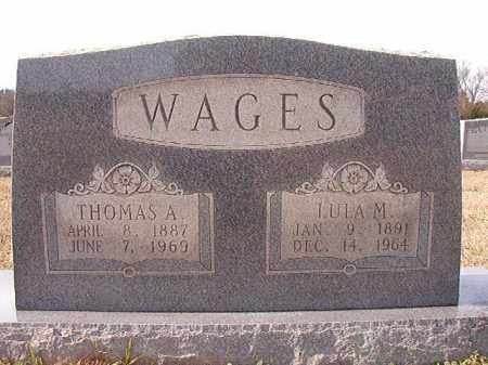 WAGES, THOMAS A - Dallas County, Arkansas   THOMAS A WAGES - Arkansas Gravestone Photos