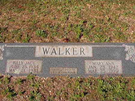 WALKER, MARY ANN - Dallas County, Arkansas | MARY ANN WALKER - Arkansas Gravestone Photos