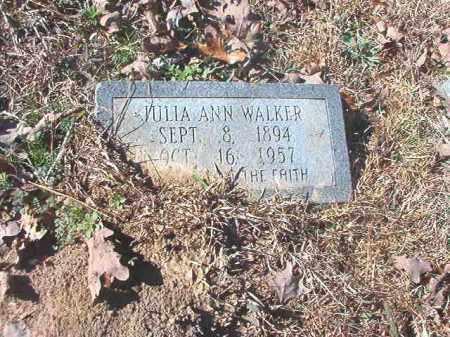 WALKER, JULIA ANN - Dallas County, Arkansas   JULIA ANN WALKER - Arkansas Gravestone Photos