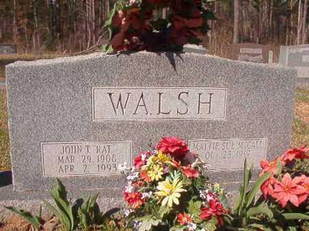 "WALSH, JOHN T ""RAT"" - Dallas County, Arkansas | JOHN T ""RAT"" WALSH - Arkansas Gravestone Photos"