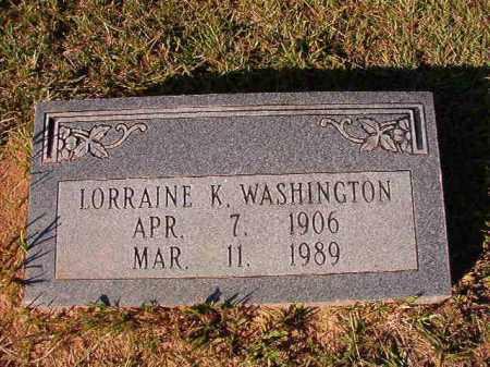 WASHINGTON, LORRAINE K - Dallas County, Arkansas | LORRAINE K WASHINGTON - Arkansas Gravestone Photos