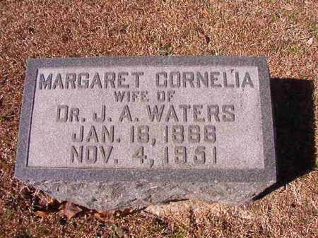 WATERS, MARGARET CORNELIA - Dallas County, Arkansas   MARGARET CORNELIA WATERS - Arkansas Gravestone Photos