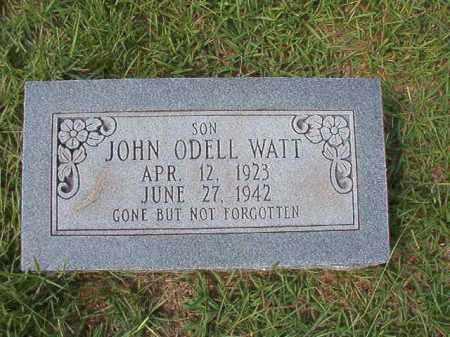 WATT, JOHN ODELL - Dallas County, Arkansas | JOHN ODELL WATT - Arkansas Gravestone Photos