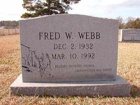 WEBB, FRED W - Dallas County, Arkansas | FRED W WEBB - Arkansas Gravestone Photos