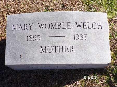 WOMBLE WELCH, MARY - Dallas County, Arkansas | MARY WOMBLE WELCH - Arkansas Gravestone Photos