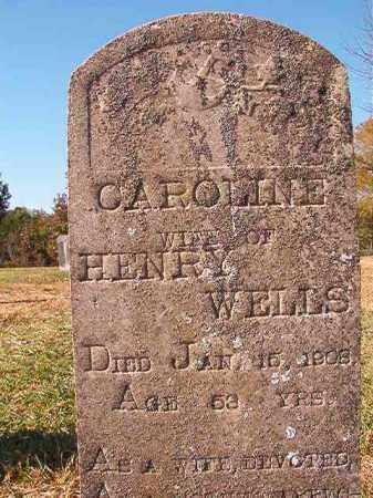 WELLS, CAROLINE - Dallas County, Arkansas   CAROLINE WELLS - Arkansas Gravestone Photos