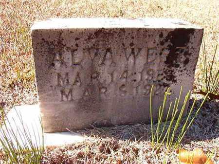 WEST, ALVA - Dallas County, Arkansas   ALVA WEST - Arkansas Gravestone Photos