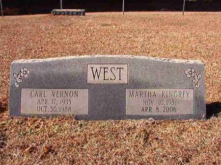 KINGREY WEST, MARTHA - Dallas County, Arkansas | MARTHA KINGREY WEST - Arkansas Gravestone Photos