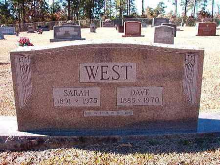 WEST, SARAH - Dallas County, Arkansas | SARAH WEST - Arkansas Gravestone Photos