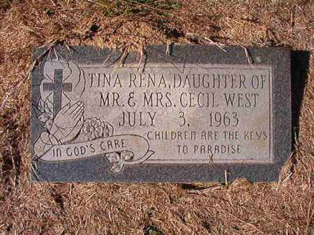 WEST, TINA RENA - Dallas County, Arkansas | TINA RENA WEST - Arkansas Gravestone Photos