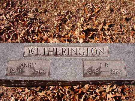 WETHERINGTON, ANGIE - Dallas County, Arkansas | ANGIE WETHERINGTON - Arkansas Gravestone Photos
