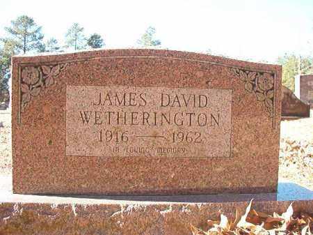 WETHERINGTON, JAMES DAVID - Dallas County, Arkansas | JAMES DAVID WETHERINGTON - Arkansas Gravestone Photos